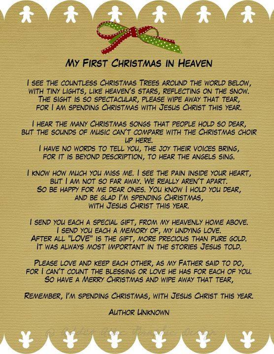 my first christmas in heaven